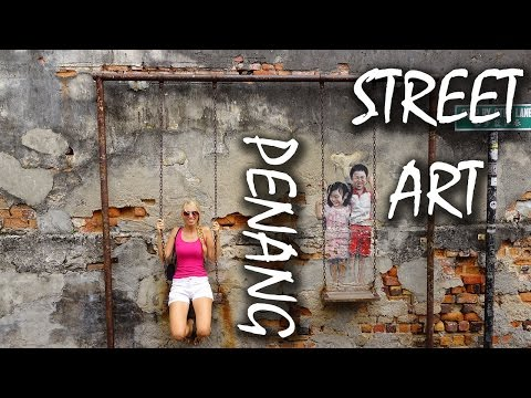 Street Art in George Town - Penang - Follow me around - Malaysia | VLOG #31