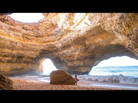 Benagil Cave an Portugals Algarve • einsame Höhle & Klippenspringen | VLOG #389