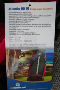 Outdoorer.net Atlantis Rucksack Vorstellung - Rucksack Kaufberatung