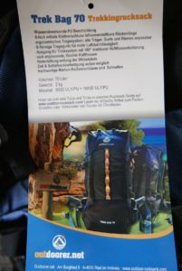 Outdoorer.net Trek Bag 70 Rucksack Vorstellung - Rucksack Kaufberatung