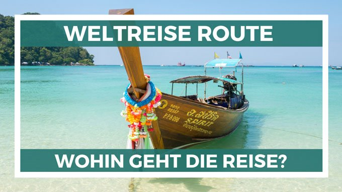 Weltreise Route