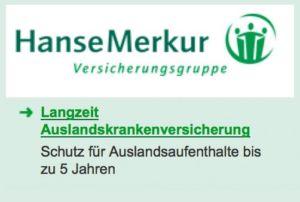 Hanse Merkur Langzeit Auslandskrankenversicherung bis 5 Jahre