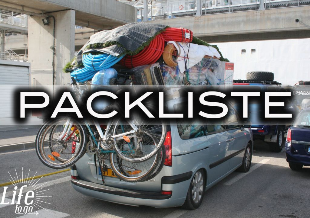 Backpacking Packliste auf Life-to-go.com