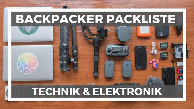 Technik Elektronik Packliste Backpacker