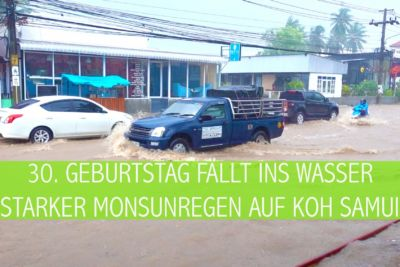 30. Geburtstag faellt ins Wasser   Starker Monsunregen