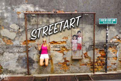 Street Art Kunstwerke in George Town, Penang, Malaysia