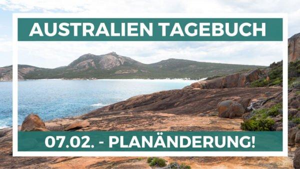 Planänderung in Australien