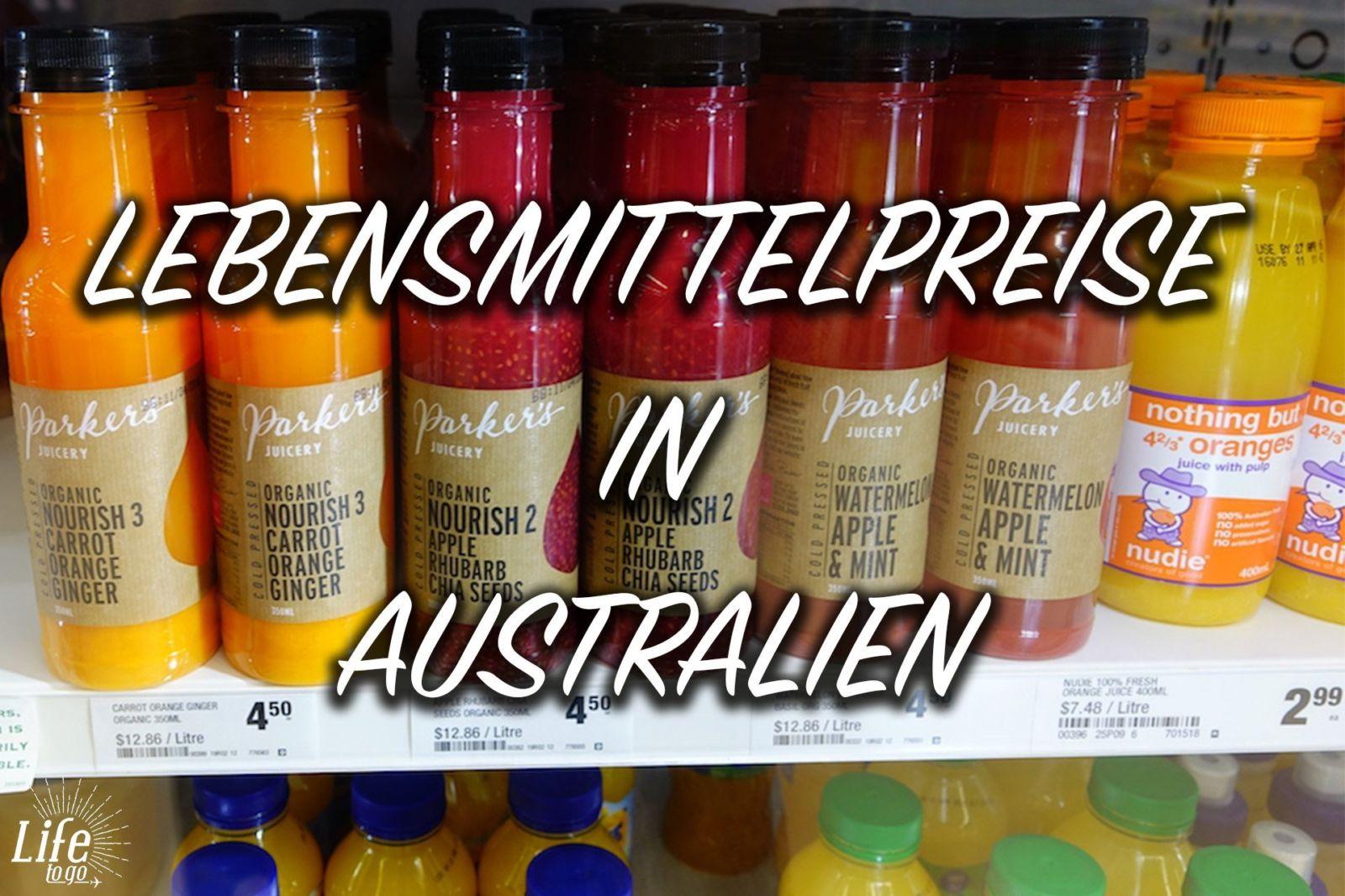 Lebensmittel in Australien und die Preise. Günstig oder teuer?