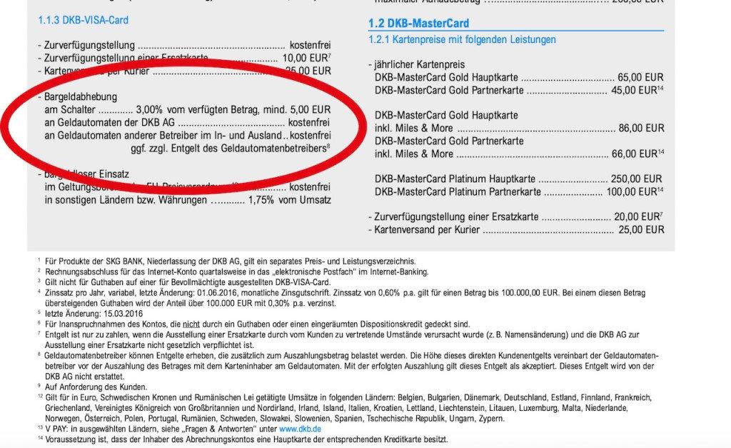 DKB Bank erstattet keine Fremdgebühren bei Bargeldabhebungen am Automaten im Ausland, ab 01.06.2016 - 3