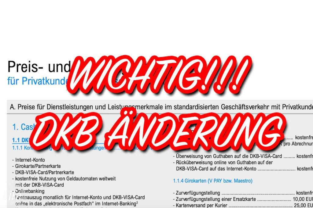 DKB Bank erstattet keine Fremdgebühren bei Bargeldabhebungen am Automaten im Ausland, ab 01.06.2016