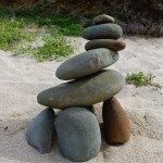 Zen Steine auf der Great Ocean Road
