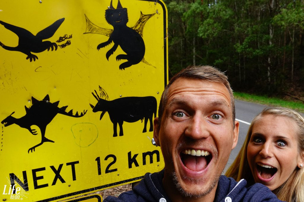 Lustiges Schild auf der Great Ocean Road