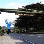 Jessi beim Start auf die Great Ocean Road
