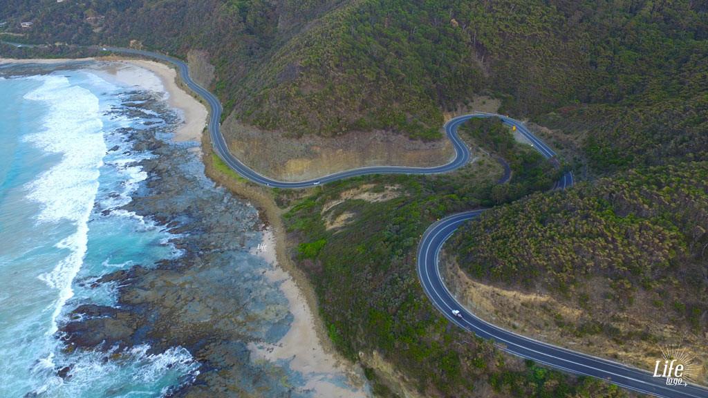 Great Ocean Road Serpentinen Straße