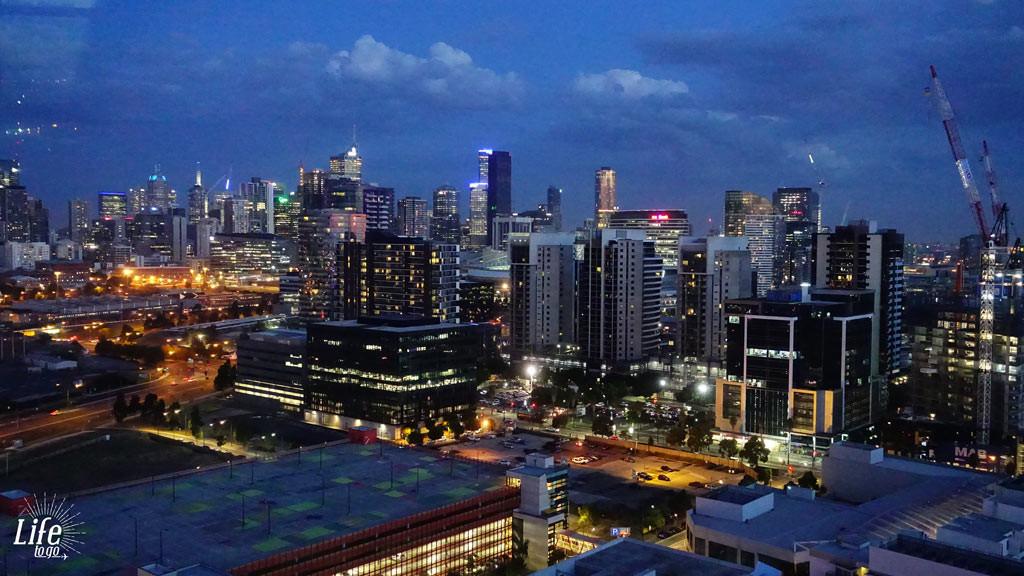 Melbourne bei Nacht aus dem Melbourne Star Riesenrad