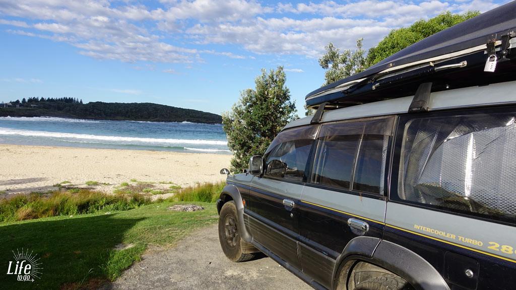 Meerblick auf dem Merry Beach Campingplatz