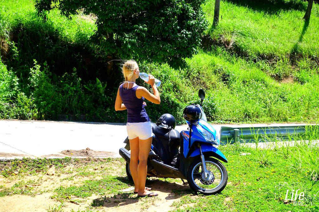 Rollerpause in Thailand