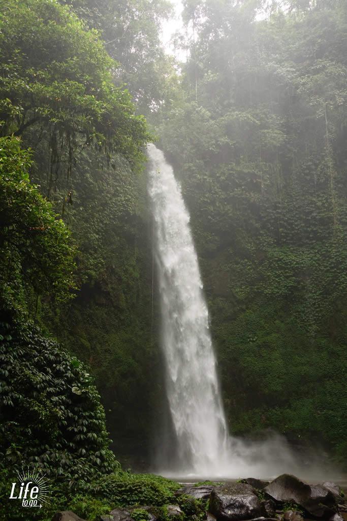 Nungnung Wasserfall auf Bali - Blogbeitrag über Bali, Reisterassen und Wasserfälle