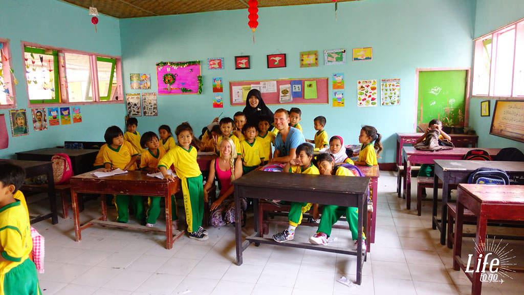 Freunde auf Lombok in Indonesien
