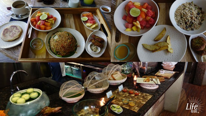 Frühstück im Blue Karma Resort Seminyak