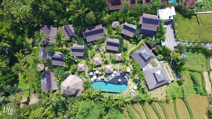 Blue Karma Resort Ubud von oben