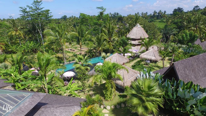 Blue Karma Resort Ubud Anlage von oben