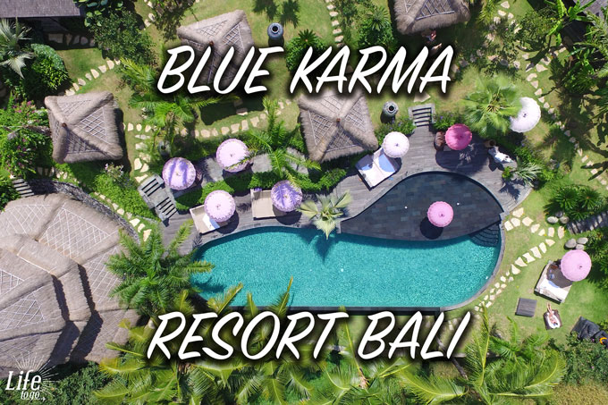 Pool mit Drohne im Blue Karma Resort Ubud