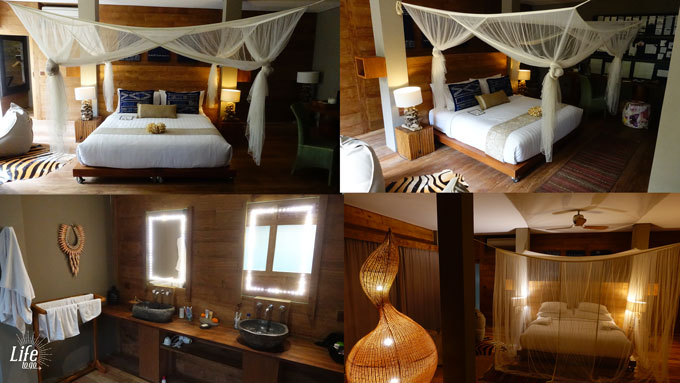 Zimmer und Badezimmer im Blue Karma Resort Ubud