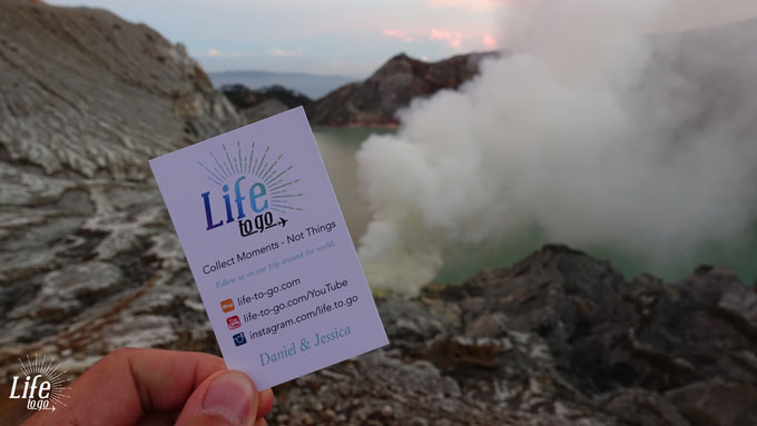 Collect Moments Not Things on Mount Ijen