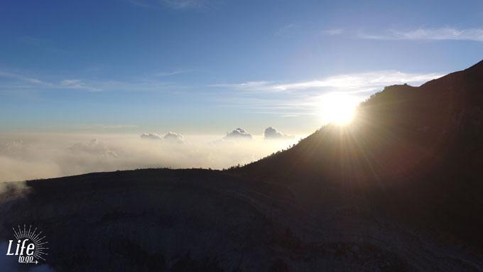 Drohnen Foto Mount Ijen Sonnenaufgang