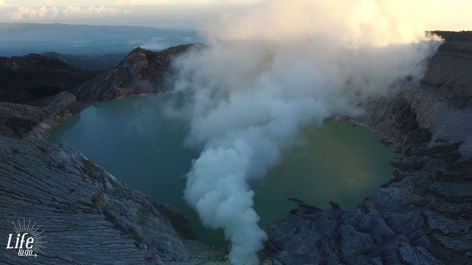 Sunrise Mount Ijen Java Dji Drone