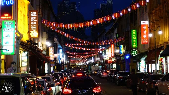 Singapures Chinatown bei Nacht - eins unserer Singapur Highlights