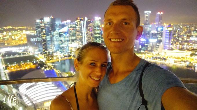 Singapur-Marina-Bay-Sands-Hotel-Selfie-Aussicht
