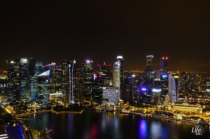 Singapur Skyline vom Marina Bay Sands Skydeck