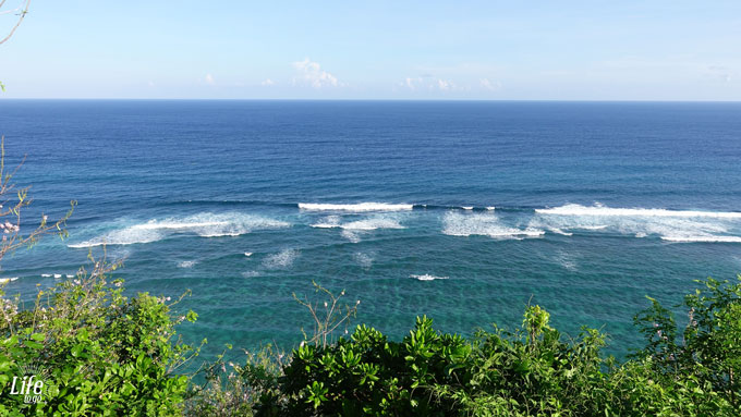 Green Bowl Beach Bali Aussicht