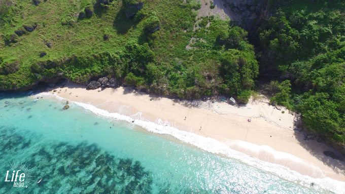 Gunung Pajung Beach Aussicht Drohne