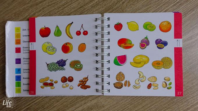 Ohne Wörter Buch Früchte und Essen