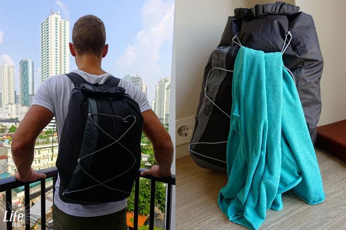 kaufe den besten wasserdichten Rucksack - super leicht und kompakt, trotz großem Volumen