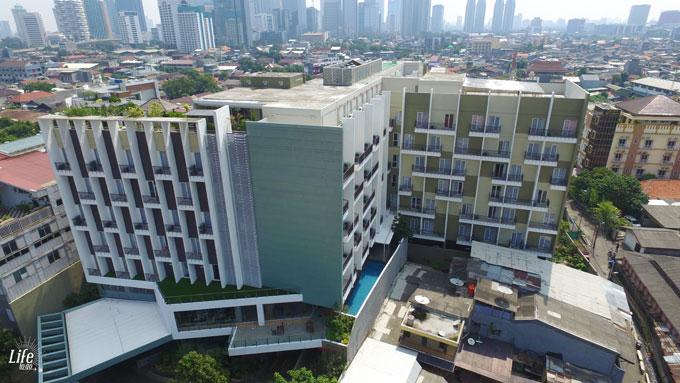 Jakarta Ayaka Suites Hotel Luftaufnahme