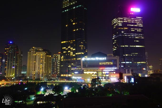 Jakarta bei Nacht