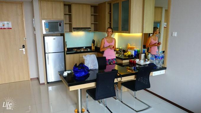Eine Seltenheit auf veganer Weltreise - eine eigene Küche