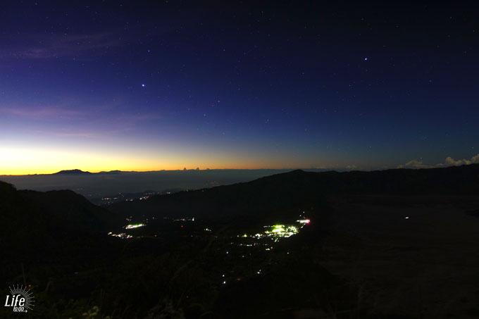 Bromo Himmel und Sterne
