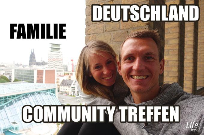 Warum sind wir in Deutschland, Familie überrascht, Community Treffen