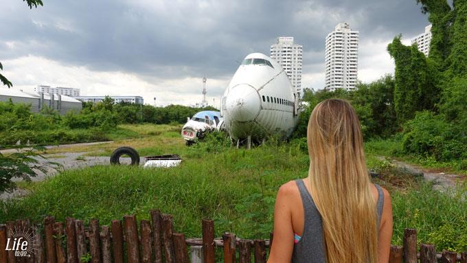 Flugzeug Friedhof Bangkok Aussicht