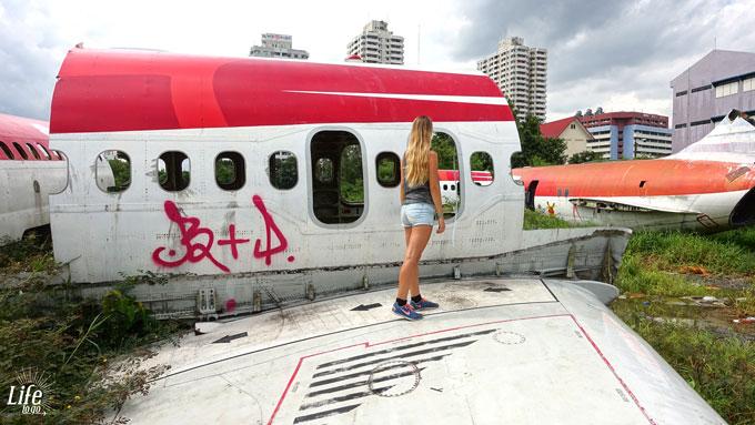 Flugzeug Friedhof Bangkok