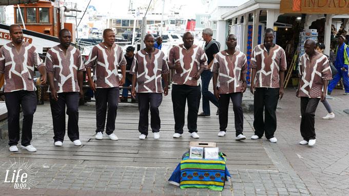 Strassenmusiker in Kapstadt