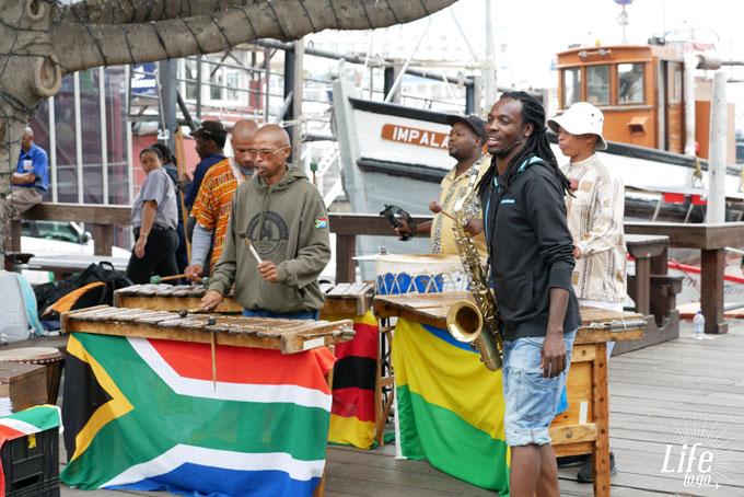 Waterfront Kapstadt Straßenmusiker