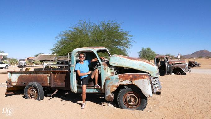 Alte Schrottautos in Solitaire Namibia
