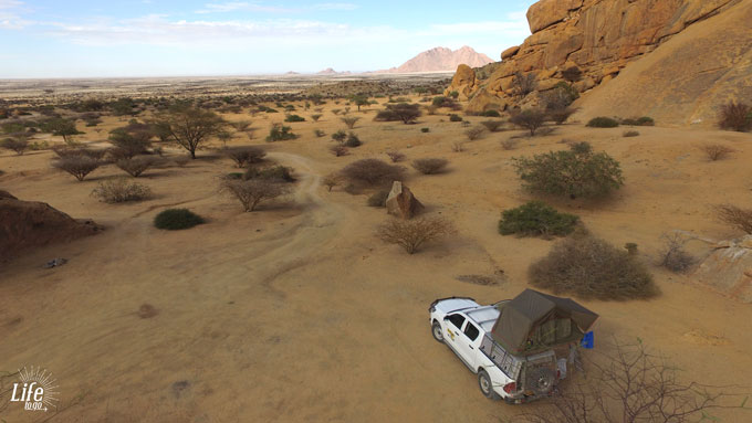 Spitzkoppe Aussicht Namibia Camping