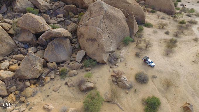 Camping in der Wildniss auf der Spitzkoppe in Namibia